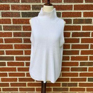 525 America Sleeveless Turtleneck Sweater